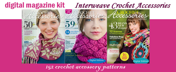crochet accessories digital magazine kit