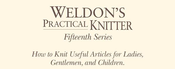 weldons practical knitter 15th series