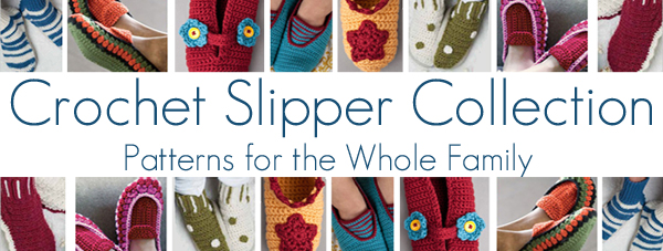 crochet slipper collection