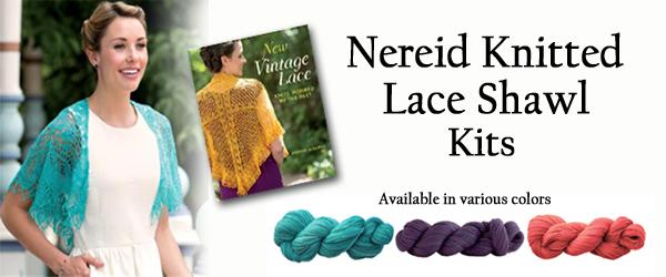 Nereid Knitted Lace Shawl Kits