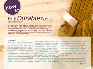 knit durable socks