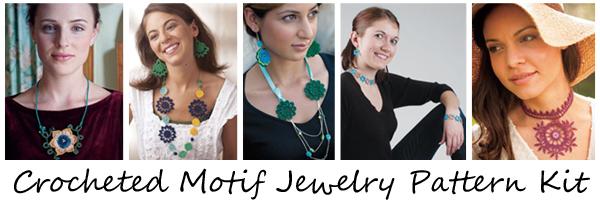 Crocheted Motif Jewelry Pattern Kit