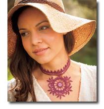 Mehndi Crocheted Necklace
