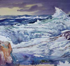You'll love this painting waves demonstration to give your water paintings more movement.