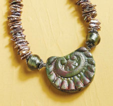 Pearl Necklace Designs: Raku Rainbow