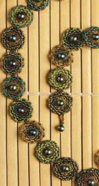 Make a necklace using our free sheet of peyote graph paper included in your eBook.