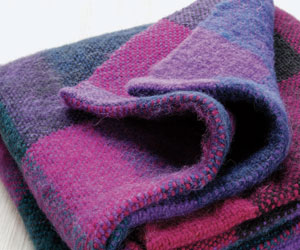 Colorful hand woven blanket