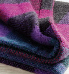 Project to learn how to weave a blanket
