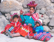 Quechuan woman and children