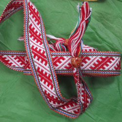 Handwoven Sami bands by Susan Foulkes