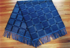 Handwoven rug in rep weave by Karla Stille