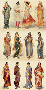 Different Styles of Saris