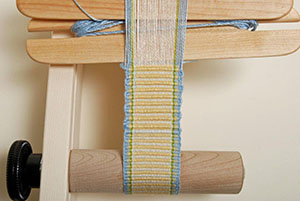Inkle band on the loom