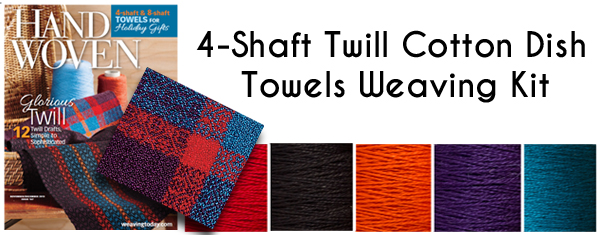 4 Shaft Twill Cotton Dish Towels Weaving Kit