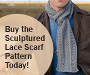 sculptured lace scarf ad
