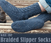 braided slipper sock