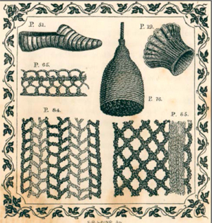Old 1845 Knitting Book