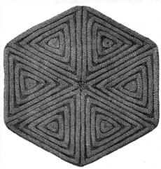 Weldon's Practical Knitter, Ridged Hexagon for a Quilt