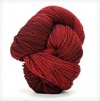 Autumn Shawl in Crimson Red Kit