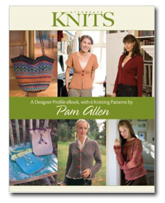 Designer Profile eBook with 6 Knitting Patterns by Pam Allen