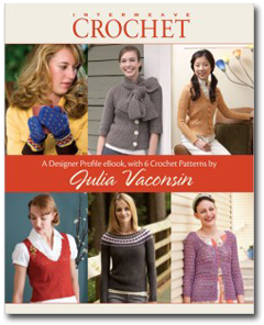 Designer Profile eBook with 6 Crochet Patterns by Julia Vaconsin