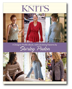 Designer Profile eBook with 6 Knitting Patterns by Shirley Paden