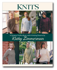 Designer Profile eBook with 6 Knitting Patterns by Kathy Zimmerman