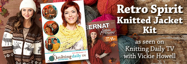 Retro Spirit Knitted Jacket Kit as seen on Knitting Daily TV with Vickie Howell