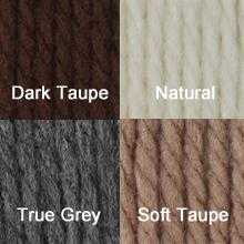 Bernat Yarn: Dark Taupe, Natural, True Grey, Soft Taupe