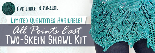 All Points East Two-Skein Shawl Kit
