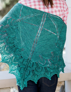 All Points East One-Skein Shawl
