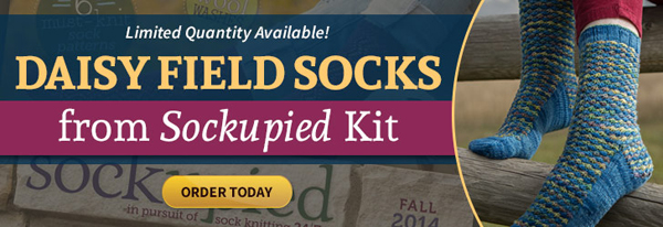 Daisy Field Socks From Sockupied Kit