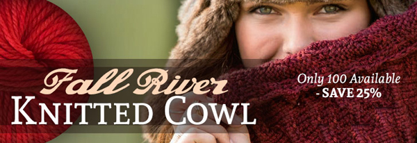 Fall River Knitted Cowl Kit