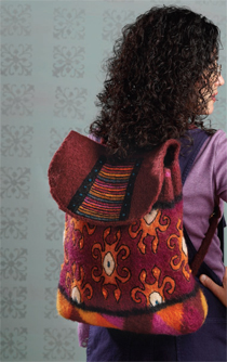 Knit, Felt, and Embroidered Backpack