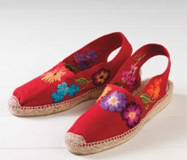 Red Espadrilles to Embroider