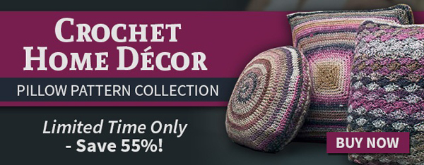 Crochet Home Decor Pillow Pattern Collection