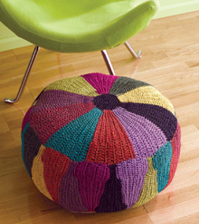 Triangles Tuffet Crochet Pattern