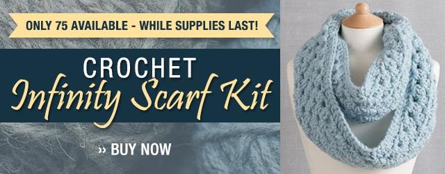 Crochet Infinity Scarf Kit