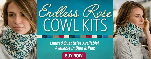 Endless Rose Knitted Cowl Kits
