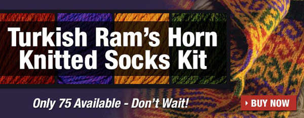 Turkish Ram's Horn Knitted Socks Kit