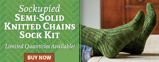 Sockupied Semi-Solid Knitted Chains Sock Kit