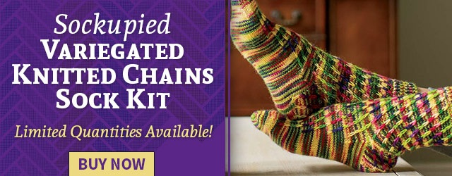 Sockupied Variegated Knitted Chains Sock Kit