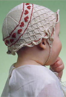 Diamonds And Hearts Baby Bonnet Knitting Pattern
