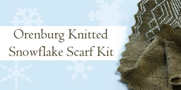 Orenburg Knitted Snowflake Scarf Kit