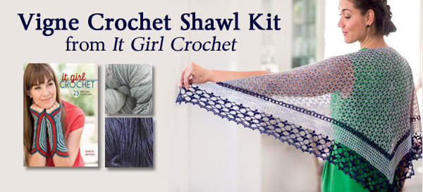 Vigne Crochet Shawl Kit from It Girl Crochet