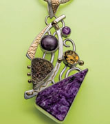 Charoite Pendant by Marilyn Mack