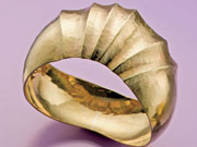 Domed Fluted Bangle by Bill Fretz
