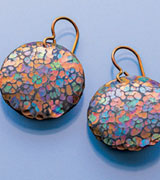 Anodized Niobium Earrings by Michael H. Mara