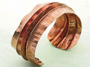 Folded Formed Copper Cuff by Debra Hoffmaster