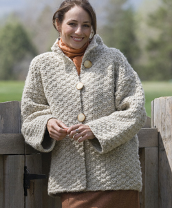 Box Top Jacket from Knitted Jackets by Cheryl Oberle